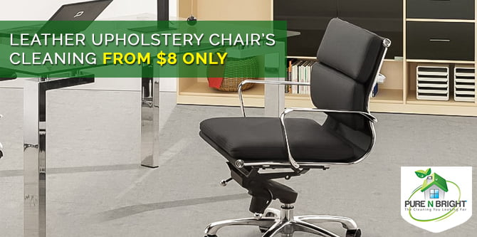 Leather-Upholstery-Chair-Cleaning Our Office Cleaning Specials